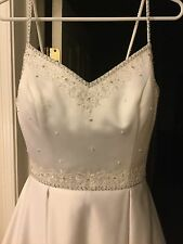 Wedding Dress Size 8 spaghetti strap, used - excellent shape