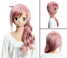 Final Fantasy Lightning  Anime Cosplay Costume Wig +Free Ship +CAP