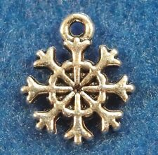 20 Pcs. Tibetan Silver SNOWFLAKE Charms Earring Drops Jewelry Findings CH35