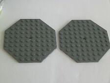 Lego 89523# 2x Platte Bauplatte 10x10 Octagonal grau neu dunkelgrau 4842 70006