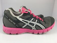 Asics Rush 33 Women's Pink White & Gray Running Shoes Size 6 ( T1H7N )