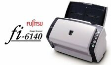Fujitsu fi-6140 USB SCSI High Speed Color Desktop Document Scanner w/ Software
