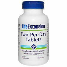 Life Extension Two-Per-Day - 60 Tablets - High Potency Multi-Vitamin & Mineral