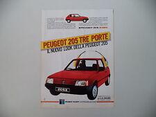 advertising Pubblicità 1984 PEUGEOT 205 X TRE PORTE