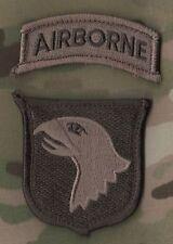 US ARMY MULTICAM UNIFORM SHOULDER SLEEVE vel©®Ø INSIGNIA: 101st AIRBORNE w/TAB
