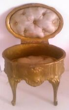 Boite à bijoux ancienne louis napoléon doré régule coffret bronze cadeau femme