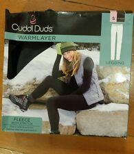 NIB Womens Cuddl Duds Shadow Fleece Stretch Warm Layer Leggings Sz Medium M