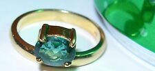 14K YELLOW GOLD RING Offset Tourmaline Size 6.50 Weight 4.0 grams
