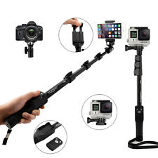 Extendable Selfie Stick Monopod + Bluetooth Remote Shutter Fr Gopro Camera Phone