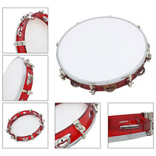 "10"" Professional Adjustable Church PET Double Row Jingle Tambourine Percussion"