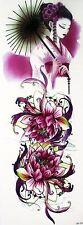 De mujer chinas Flores Pegatinas de Tatuaje Temporal Body Art 3D Tatoo Impermeable UK