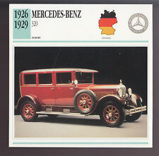 1926-1929 Mercedes-Benz 320 Pullman Limo Car Photo Spec Sheet CARD 1927 1928
