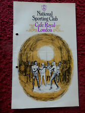 BOXING PROGRAMME-CAFE ROYAL-1976-RICHARDSON V MITCHELL
