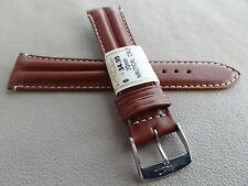New ZRC France Brown Padded Water Resistant 20mm Watch Band Chrome Buckle $34.95