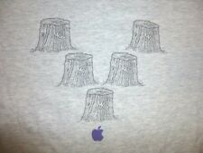 Vtg APPLE COMPUTERS Gray T-Shirt Men's XL Steve Jobs Stumps Funny Cool RARE