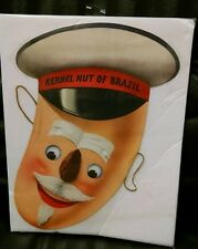 Kernel Of Brazil Advertising Paper Mask, 1940, MINT!  Awesome Food Ad Mask