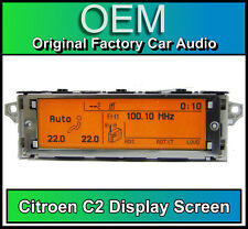 Citroen C2 display screen, RD4 radio LCD Multi function clock dash Brand New!!!