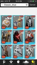 Topps Star Wars Digital Card Trader Blue 9 Card Force Awakens Photo Insert Set
