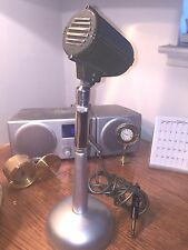 Vintage 1940's Astatic DN-HZ microphone w F-11 adapter and stand
