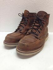 Red Wing Shoes 1907 Classic Moc Toe Copper Brown Leather Boots Mens Size 8 D