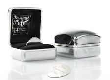 Personalised Guitar Plectrum Pick & Chrome Case 'Personal Picks' Engraved