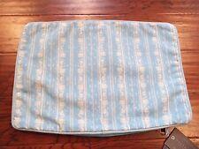 RESTORATION HARDWARE Perennials 12X18 Outdoor Corsica Aqua Blue Pillow Cover