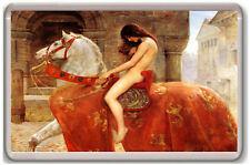 JOHN COLLIER - LADY GODIVA 1987 FRIDGE MAGNET IMAN NEVERA