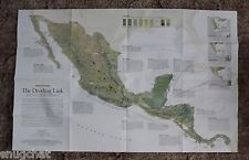 National Geographic 2-Sided Map Aug 2007 Dividing Link ~ Mexico, Central America