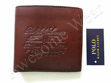 New Ralph Lauren Polo Brown Leather Logo Bifold Wallet