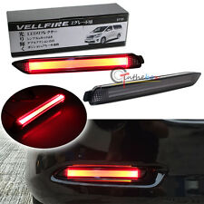 Smoked Lens Red 3D Optic LED Bumper Reflector Taillight Lights For Lexus Toyota