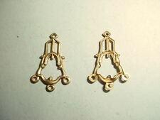 Brass 4 Loop Jewelry Findings 3 dozen pieces