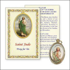 SAINT JUDE PICTURE MEDAL & PRAYER CARD - STATUES CANDLES PICTURES ALSO LISTED