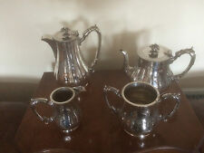 VIVTORIAN 4 PIECE VINTAGE SILVER PLATED TEA/COFFEE SERVICE (SPTCS 3100) J R & S