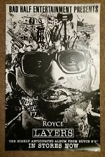 """Royce - Layers  11"""" x 17 """" US promo poster VG+ Condition D"""