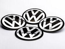 4x NEU VW 90mm ALUMINIUM AUFKLEBER RADKAPPEN RADDECKEL DECKEL EMBLEM NABENDECKEL