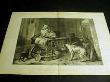 Edwin Landseer JACK in OFFICE Rescue Dogs Look at PET 1873  Large Folio Print