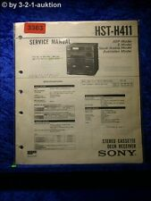 Sony Service Manual HST H411 Component System  (#3363)