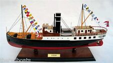 DS Oster 1908 Steam Ship - Handcrafted Wooden Model Boat NEW