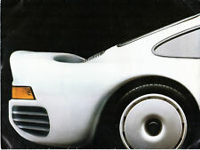 Porsche 1984-85 UK Market Foldout Sales Brochure 924 944 911 928 959