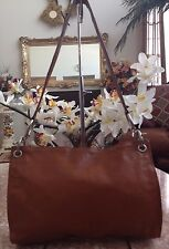 Authentic Bottega Veneta Tan Brown Leather Vintage Italy Handbag EUC