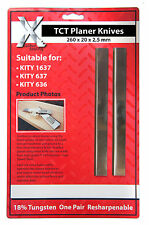 1 PAIR CARBIDE PLANER BLADES/KNIVES FOR KITY 1637/637/636 PLANERS: 260202.5mmTCT