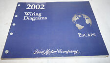 2002 Ford Escape Factory Wiring Diagrams Service Manual OEM Dealership Book 02