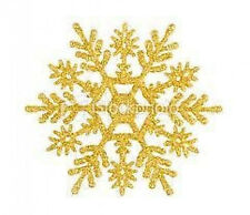 20 water slide nail art transfer decals gold snowflake 5/8 inch trending