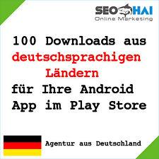 100 DEUTSCHE Downloads für Google Play Store - 100 Nutzer für Ihre Android App