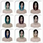 New Women Short Straight Wigs Ombre Full Hair Synthetic Anime Harajuke Cosplay