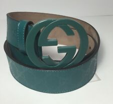 "AUTHENTIC New Gucci Interlocking G Buckle Imprim Leather Belt #223891,32""-36""NWT"