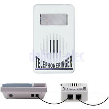 Telephone Phone Amplifier Strobe Light Flasher Bell Extra-Loud Ringer Sound DH