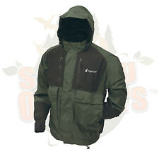 M MD Frogg Toggs Frog Toggs Green Firebelly Toadz Toad Jacket Rain Gear Wear