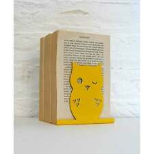 Yellow Owl Animal Bookend by Susan Bradley