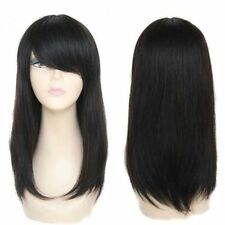 100% Real Hair! Natural Black Brazilian Straight Full Wig Straight Human Hair